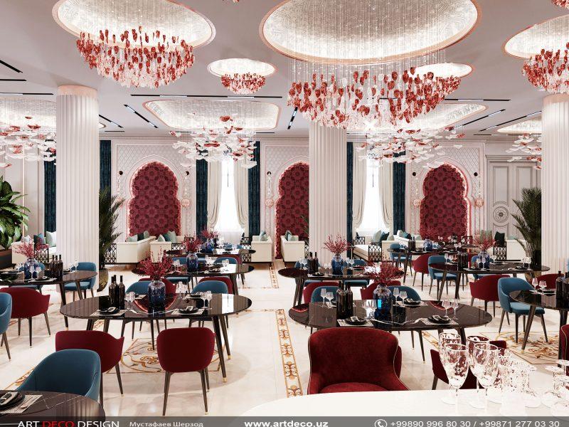 Дизайн ресторана Art deco design
