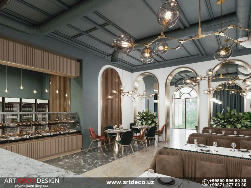 Restoran 2 Art deco design